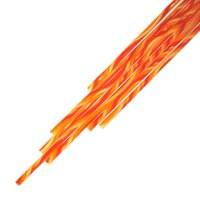 Twisted Cane Clear with Yellow, Red and Orange Double Twist Cane COE90