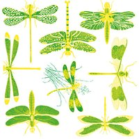 Two Color Dragonfly Decal Sheet