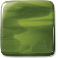 Uroboros Glass Oasis Green Opalescent & Dark Green Opalescent Streaky, Double-rolled, 3mm - COE96