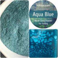 Val Cox Frit Blend Aquamarine Powder Transparent COE96