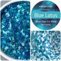 Val Cox Frit Blend Blue Lotus COE96