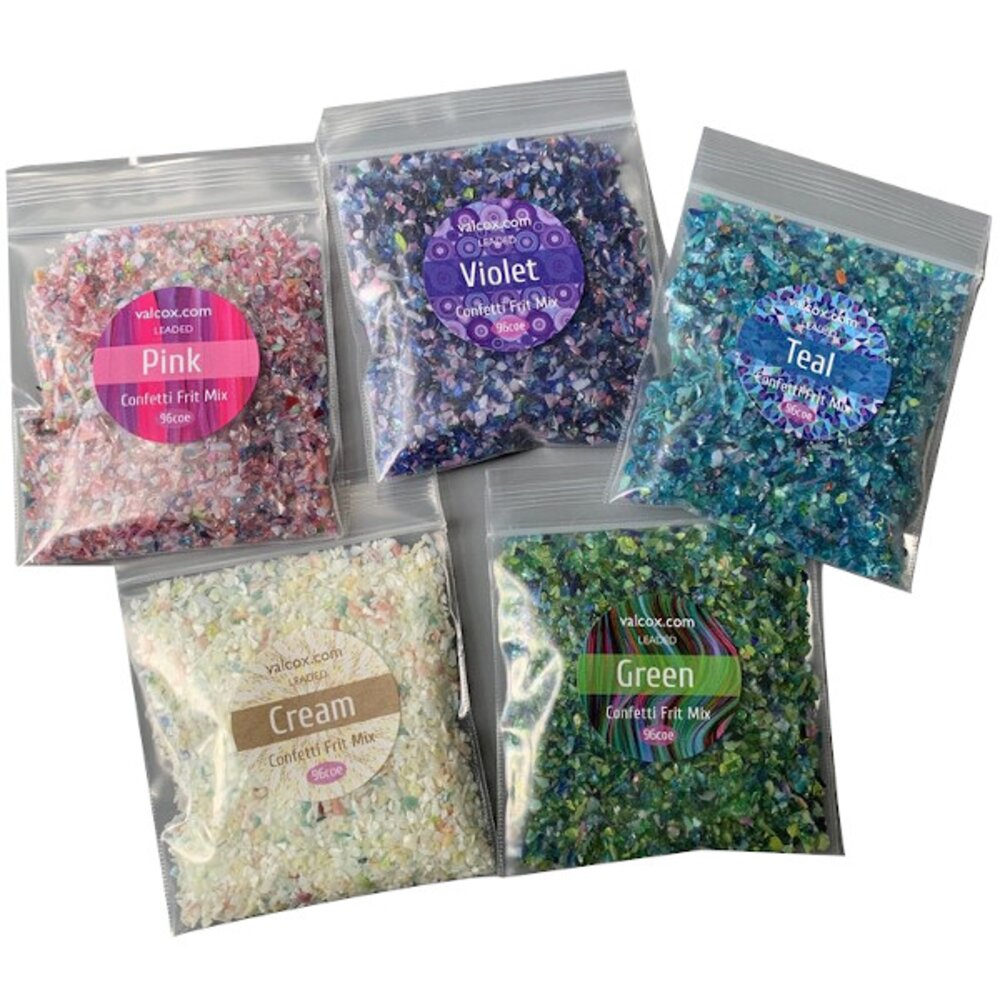 Val Cox Frit Blend Confetti Sample Set COE96