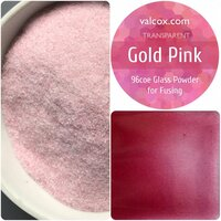 Val Cox Frit Blend Gold Pink Powder Transparent COE96