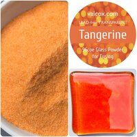 Val Cox Frit Blend Tangerine Powder Transparent COE96
