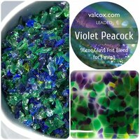 Val Cox Frit Blend Violet Peacock COE96