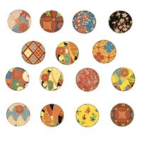Vintage Kimono Circles Color Decal Sheet