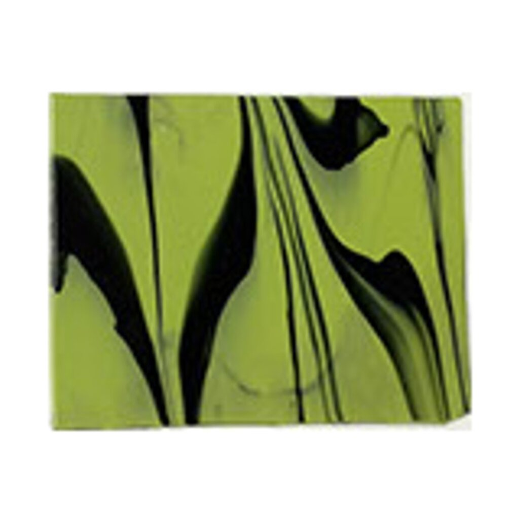 Youghiogheny Glass Green Extreme Streaky, 3mm COE96