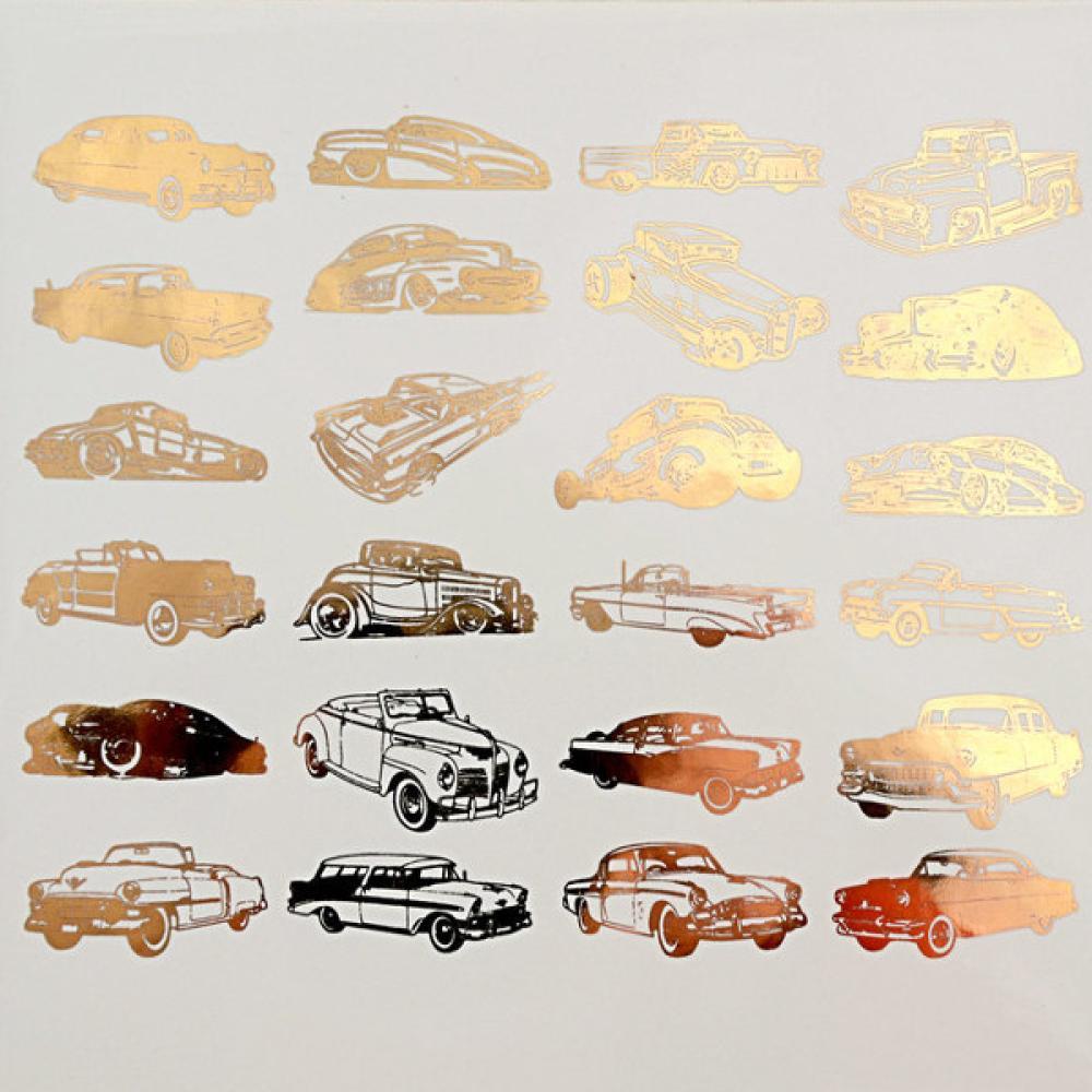 Classic Cars Decals Sheet | Art Glass Supplies